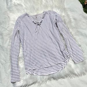 Long Sleeved Nautical Stripe Sweatshirt
